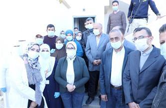 وزيرة الصحة تتفقد مركز طب أسرة الروضة بشمال سيناء.. وتشيد بمستوى الخدمات المقدمة للأهالي | صور