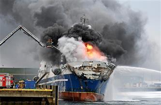 مقتل ثلاثة في حريق بسفينة روسية قبالة ميناء جران كناريا الإسباني
