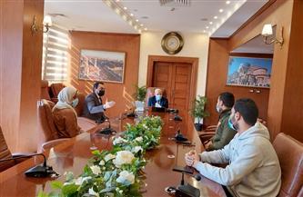 محافظ بورسعيد يتابع موقف إنشاء منظومة البنية المعلوماتية المكانية | صور