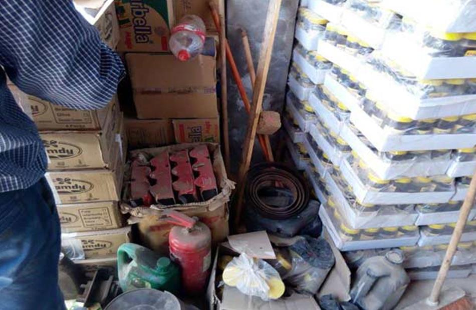 ضبط  طن مواد غذائية فاسدة قبل توزيعها في الأسواق بالغربية