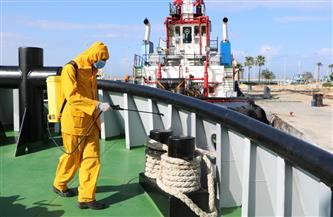 ميناء دمياط: اتخاذ كافة الإجراءات الاحترازية لمجابهة فيروس كورونا | صور