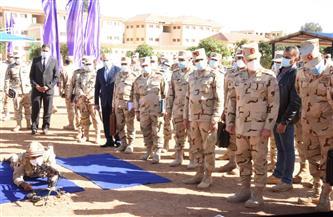 رئيس الأركان يتفقد معسكر إعداد وتأهيل مقاتلي شمال سيناء بالجيش الثاني الميداني | صور