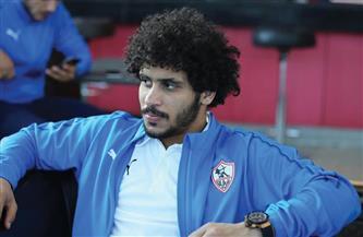 عبدالله جمعة يخضع لجلسة علاجية على هامش تدريبات الزمالك