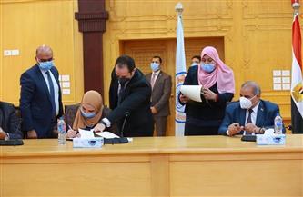 القباج توقع بروتوكول تعاون لتدشين وحدة للتضامن الاجتماعي بجامعة الأزهر| صور