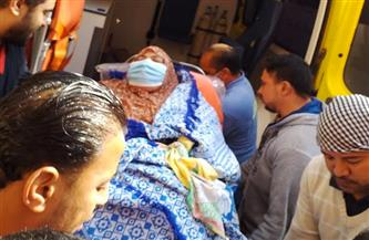"""نقل مريضة """"داء الفيل"""" إلى مستشفى المخ والأعصاب بشبين الكوم بعد توجيه الرئيس بعلاجها"""