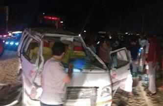 مصرع وإصابة 15 فى حادث انقلاب ميكروباص بترعة في سوهاج