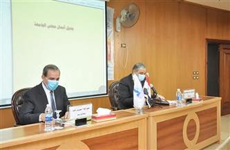 المحافظ ومجلس جامعة كفرالشيخ يبحثان استعدادات عقد امتحانات نصف العام الدراسي | صور
