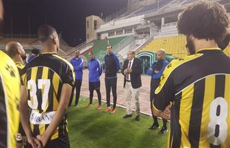 المشرف على الكرة بالمقاولون يحفز اللاعبين قبل لقاء أرتا سولار بطل جيبوتي