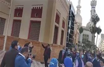 وزير الري يفتتح عملية تطوير دار مناسبات مسجد النصر بالمنصورة  صور