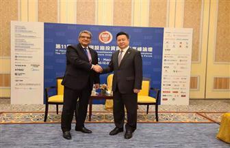 سفير مصر بالصين يستعرض تجربة مصر الناجحة خلال المنتدى الدولي للاستثمار | صور