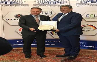 """جمعية """"رجال أعمال إسكندرية"""" تستقبل سفير الدنمارك بمصر لبحث التعاون"""
