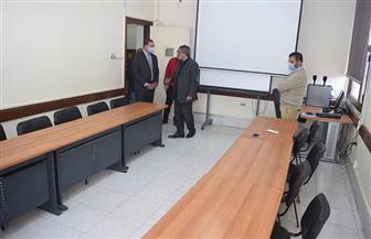 رئيس جامعة سوهاج يتابع خطة تطوير مركز ضمان الجودة   صور
