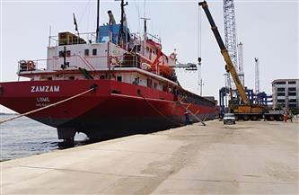 25 سفينة إجمالي حركة سفن الحاويات والبضائع العامة بموانئ بورسعيد