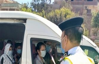 تحرير مخالفات لـ9462 سائق نقل جماعى لعدم ارتداء الكمامة و836 مخالفة للمحلات