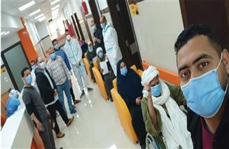 خروج ٩ حالات تعافٍ من فيروس كورونا من مستشفى العديسات بالأقصر| صور