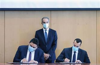 طلعت يشهد توقيع اتفاقيات تخصيص ترددات بين تنظيم الاتصالات وثلاث شركات محمول| صور