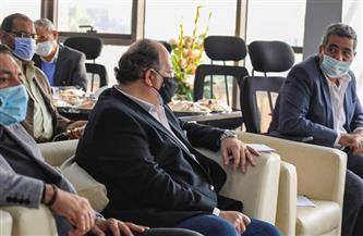 توافد أندية الدوري الممتاز على اجتماع اللجنة الثلاثية باتحاد الكرة | صور