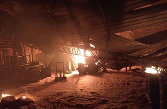 10 سيارات إطفاء تسيطر على حريق مصنع بلاستيك طلخا ولا إصابات بشرية | صور