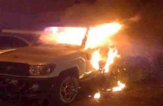 سائق توك توك يشعل النيران في سيارة ملاكي تقودها سيدة بالمنوفية