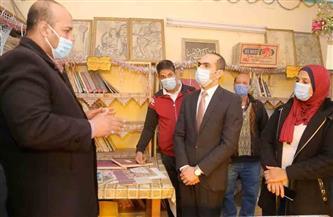 نائب محافظ سوهاج يتفقد المكتبة الثقافية النموذجية بمركز شباب طما | صور