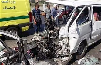 إصابة 14عاملا في حادث تصادم بالشرقية