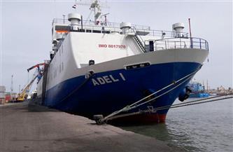 تداول 22 سفينة وتفريغ 3550 طن رخام بموانئ بورسعيد | صور