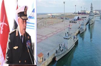 """وصول الفرقاطة """"الجلالة"""" من طراز """"فریم بيرجامینى"""" إلى قاعدة الإسكندرية وانضمامها للقوات البحرية"""