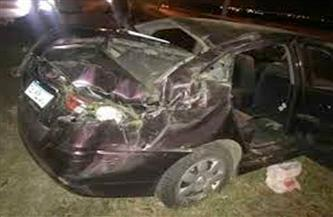 إصابة زوجين  فى حادث انقلاب سيارة ملاكي بنصر النوبة