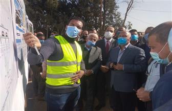 وزير النقل يتفقد مشروعات الطرق بمحافظة المنوفية