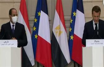 بث مباشر للمؤتمر الصحفي للرئيس السيسي ونظيره الفرنسي ماكرون