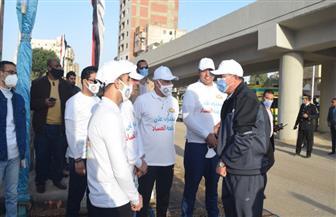 """رئيس جامعة سوهاج: ماراثون """"متحدون ضد الفساد"""" رسالة للعالم بأننا """"على قلب واحد""""   صور"""