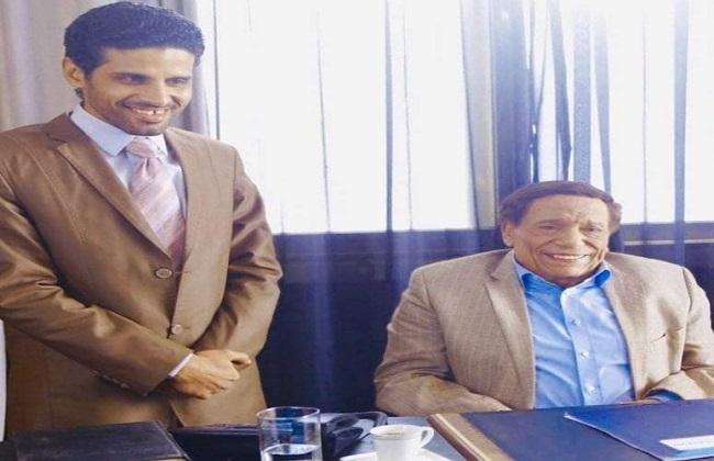 أحدث ظهور للزعيم عادل إمام مع حمدي الميرغني -
