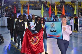 افتتاح فعاليات الملتقى الرياضي الأول للطلاب الوافدين بجامعة القناة | صور