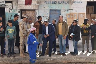 محافظ مطروح يتفقد أعمال التطوير بشوارع مدينة مرسى مطروح | صور