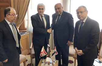 سامح شكرى يعقد عددا من اللقاءات مع نظرائه اللبناني والسوداني والبحرينى   صور