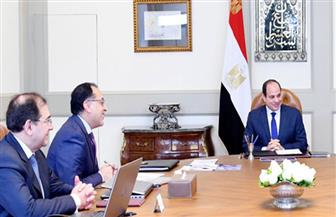 تفاصيل اجتماع الرئيس السيسي مع رئيس الوزراء ووزير البترول