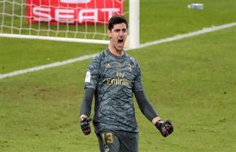 كورتوا يعلق على خسارة ريال مدريد الليجا بالأمس