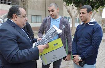 جولة تفقدية لرئيس جامعة حلوان للاطمئنان على سير العلمية التعليمية |صور