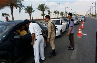 حملات مرورية مكثفة على الطرق والمحاور لتحقيق الانضباط المرورى