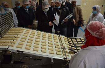 محافظ الغربية ونائبه يتفقدان المشروع الخدمي للتغذية المدرسية بطنطا | صور