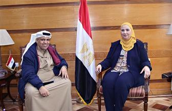 وزيرة التضامن تستقبل مدير الهلال الأحمر الإماراتي | صور