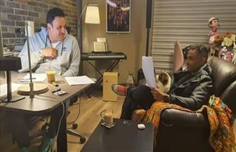 """أكرم حسني وأحمد فهمي في بروفات تصوير مسلسل """" تيمون وبومبا"""""""