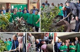 """تنفيذ المبادرة الرئاسية """"اتحضر للأخضر"""" في مدارس القاهرة   صور"""