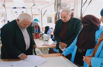 وزيرالقوى العاملة يتابع الدورات التدريبية بـ8 وحدات متنقلة  صور