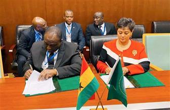 نميرة نجم: موسى فكي يوقع اتفاق المقر الخاص بسكرتارية اتفاقية منطقة التجارة الحرة الإفريقية | صور