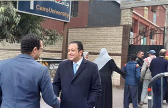 علاء عابد يتفقد عددا من لجان الانتخابات التكميلية بالجيزة