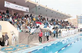 افتتاح بطولة الصعيد للسباحة في بني سويف بمشاركة 412 لاعبا من 11 محافظة | صور