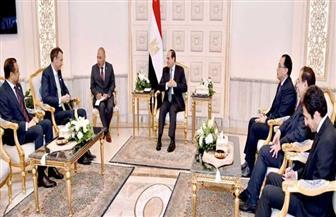 الرئيس السيسي يلتقي الرئيس التنفيذي لشركة بريتيش بتروليوم البريطانية