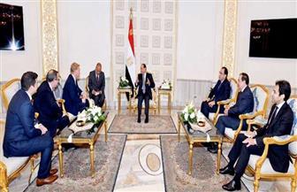 الرئيس السيسي يلتقي رئيس مجلس إدارة شركة بكتل الأمريكية