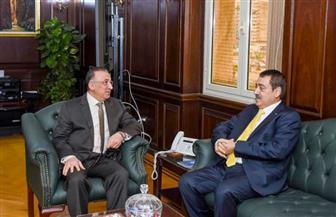 محافظ الإسكندرية يستقبل قنصل عام فلسطين | صور